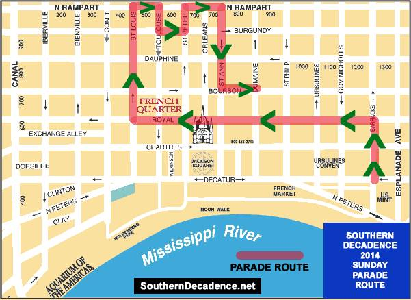 2014 Decadence parade route