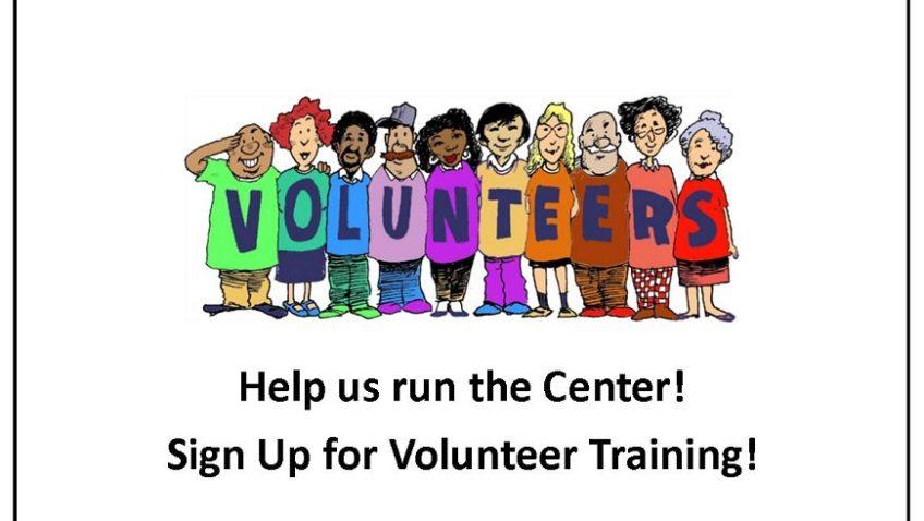 Volunteer Training Opportunity